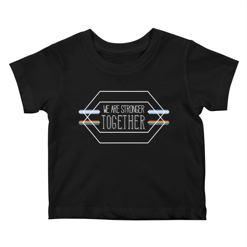 Stronger Together Shapes  Kids Baby T-Shirt by uppercaseCHASE1