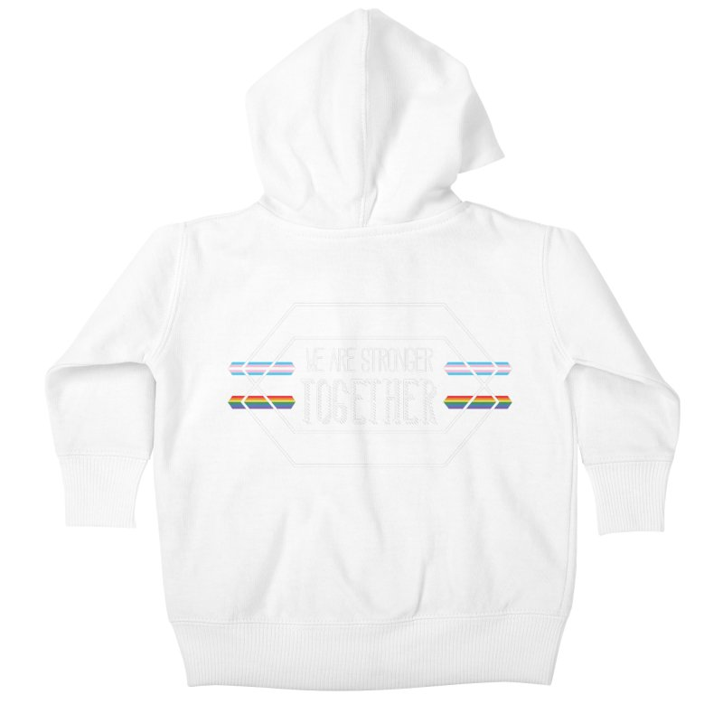 Stronger Together Shapes  Kids Baby Zip-Up Hoody by uppercaseCHASE1