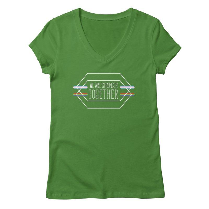 Stronger Together Shapes  Women's V-Neck by uppercaseCHASE1