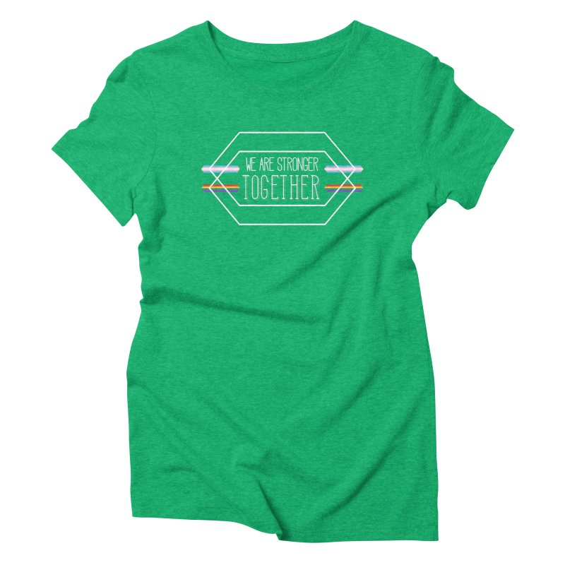 Stronger Together Shapes  Women's Triblend T-Shirt by uppercaseCHASE1
