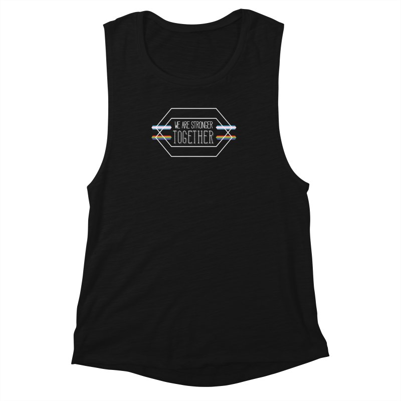 Stronger Together Shapes  Women's Muscle Tank by uppercaseCHASE1
