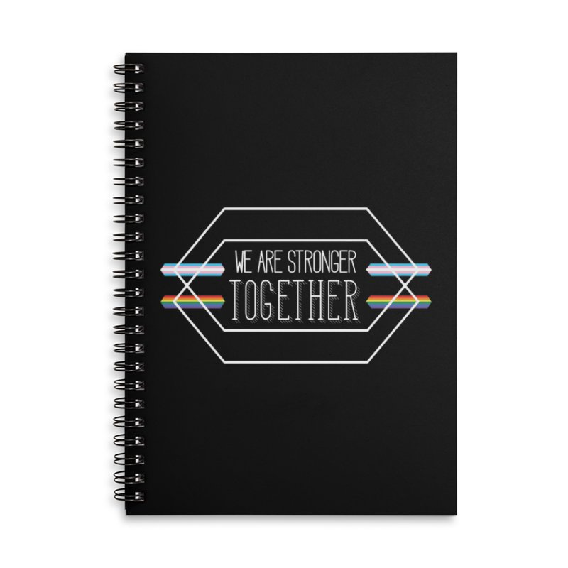 Stronger Together Shapes  Accessories Notebook by uppercaseCHASE1
