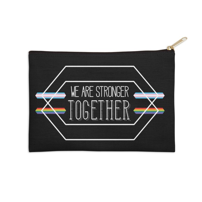 Stronger Together Shapes  Accessories Zip Pouch by uppercaseCHASE1