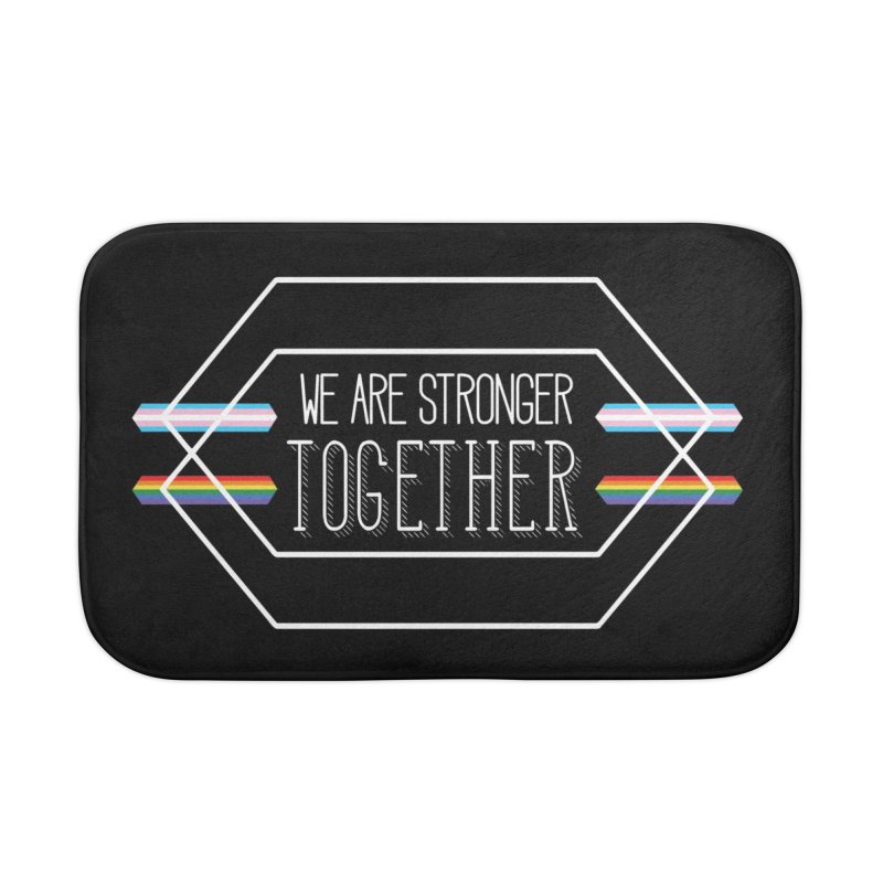 Stronger Together Shapes  Home Bath Mat by uppercaseCHASE1