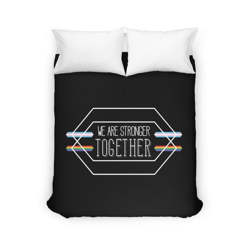 Stronger Together Shapes  Home Duvet by uppercaseCHASE1