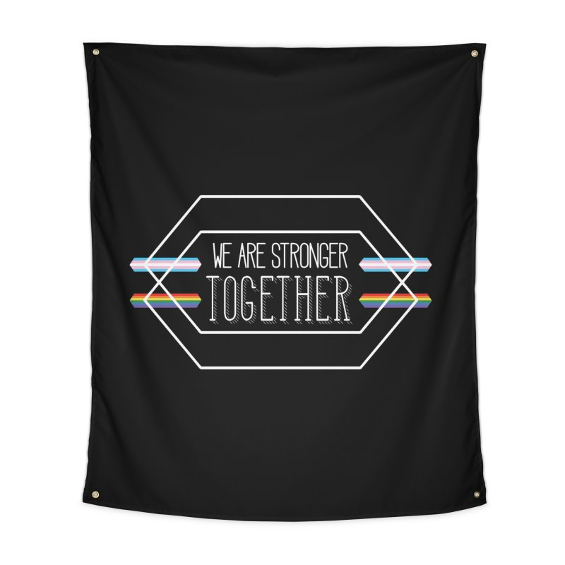 Stronger Together Shapes  Home Tapestry by uppercaseCHASE1