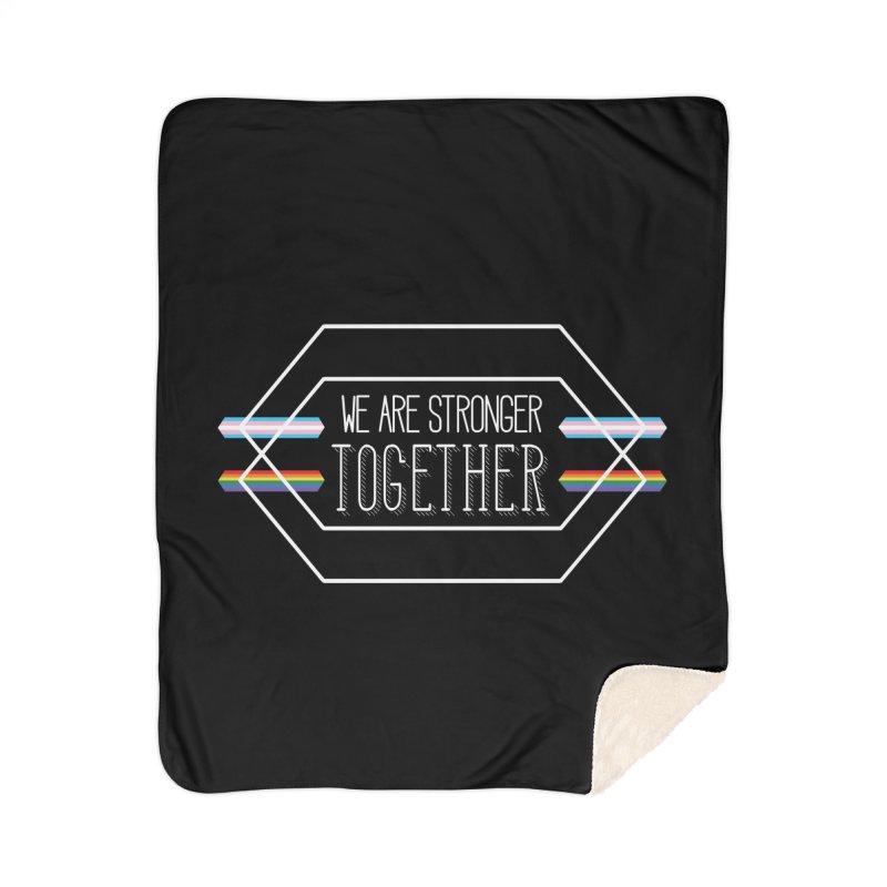 Stronger Together Shapes  Home Blanket by uppercaseCHASE1