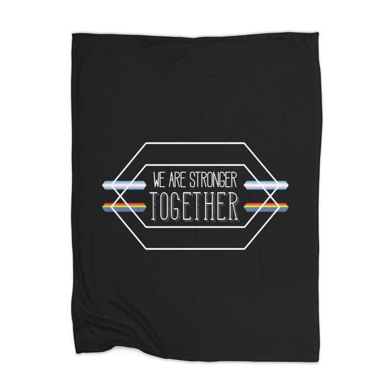 Stronger Together Shapes  Home Blanket by uppercaseCHASE1
