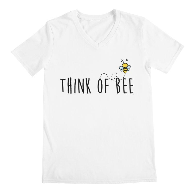 Think of Bee *Black* Men's V-Neck by uppercaseCHASE1