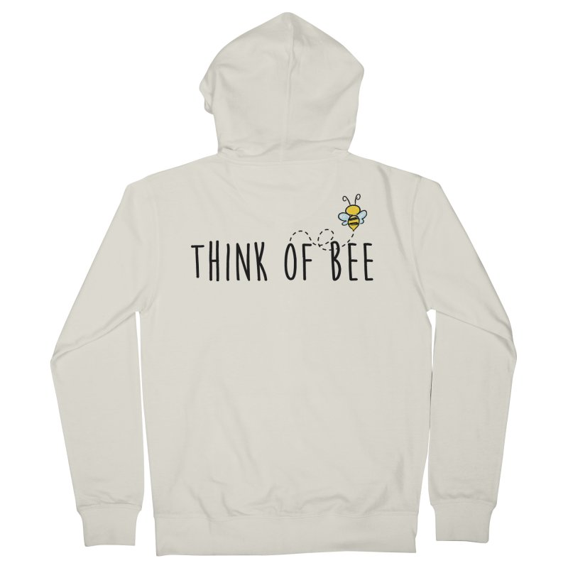 Think of Bee *Black* Women's Zip-Up Hoody by uppercaseCHASE1