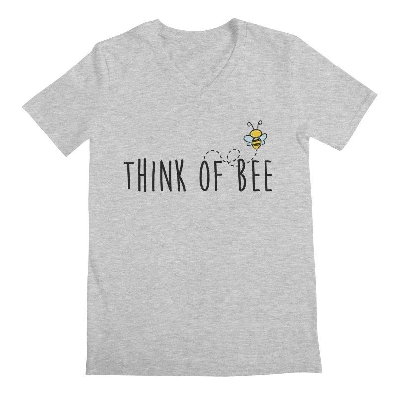Think of Bee *Black* Men's Regular V-Neck by uppercaseCHASE1
