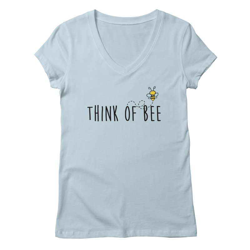 Think of Bee *Black* Women's V-Neck by uppercaseCHASE1