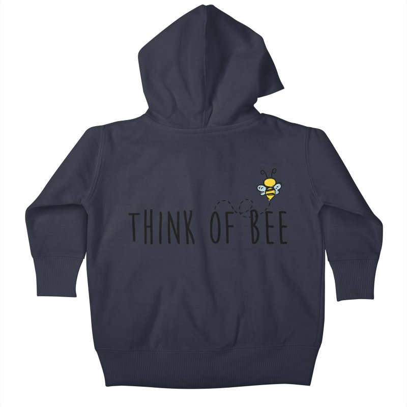 Think of Bee *Black* Kids Baby Zip-Up Hoody by uppercaseCHASE1