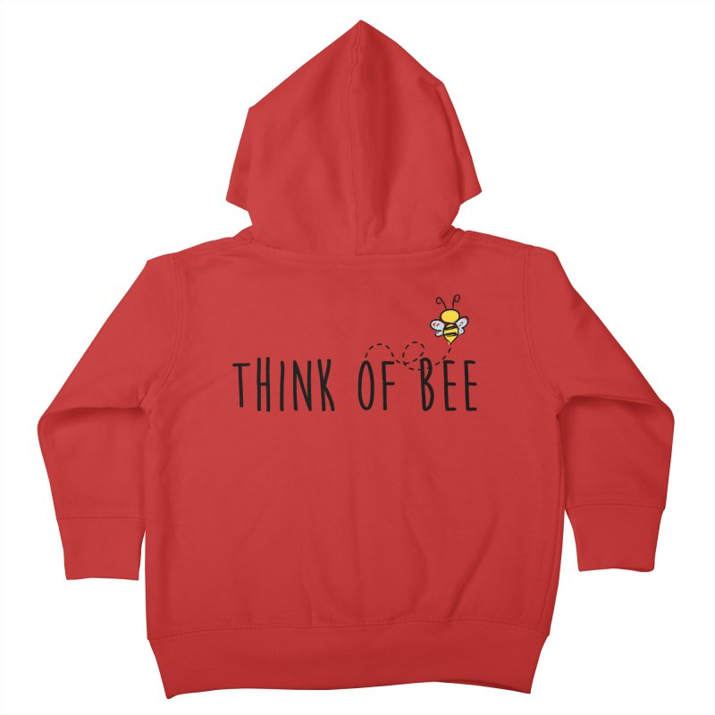 Think of Bee *Black* Kids Toddler Zip-Up Hoody by uppercaseCHASE1