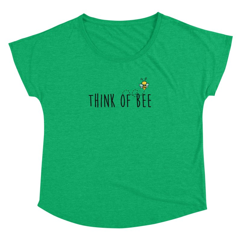 Think of Bee *Black* Women's Dolman Scoop Neck by uppercaseCHASE1
