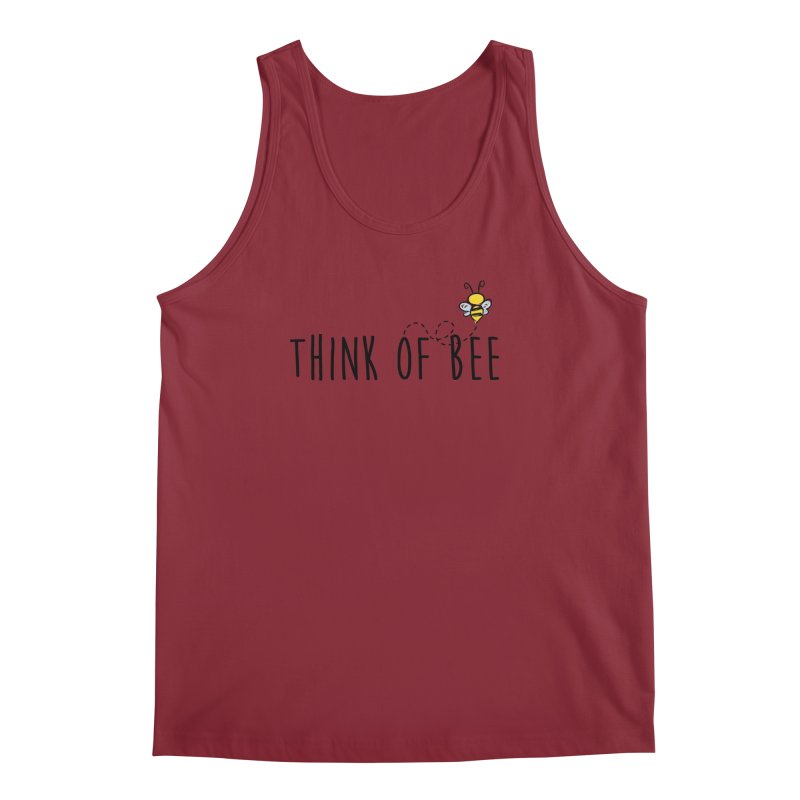 Think of Bee *Black* Men's Tank by uppercaseCHASE1