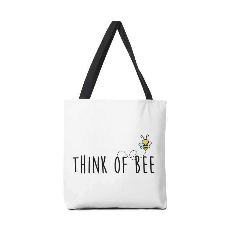 Think of Bee *Black* Accessories Tote Bag Bag by uppercaseCHASE1