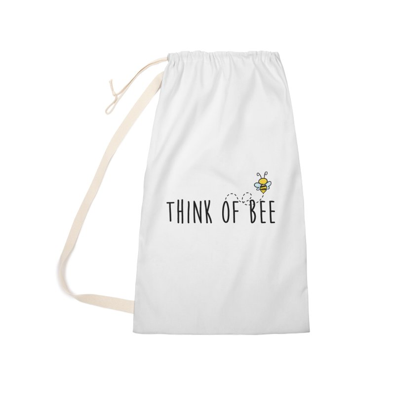Think of Bee *Black* Accessories Laundry Bag Bag by uppercaseCHASE1