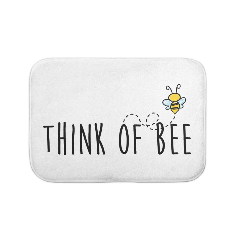 Think of Bee *Black* Home Bath Mat by uppercaseCHASE1