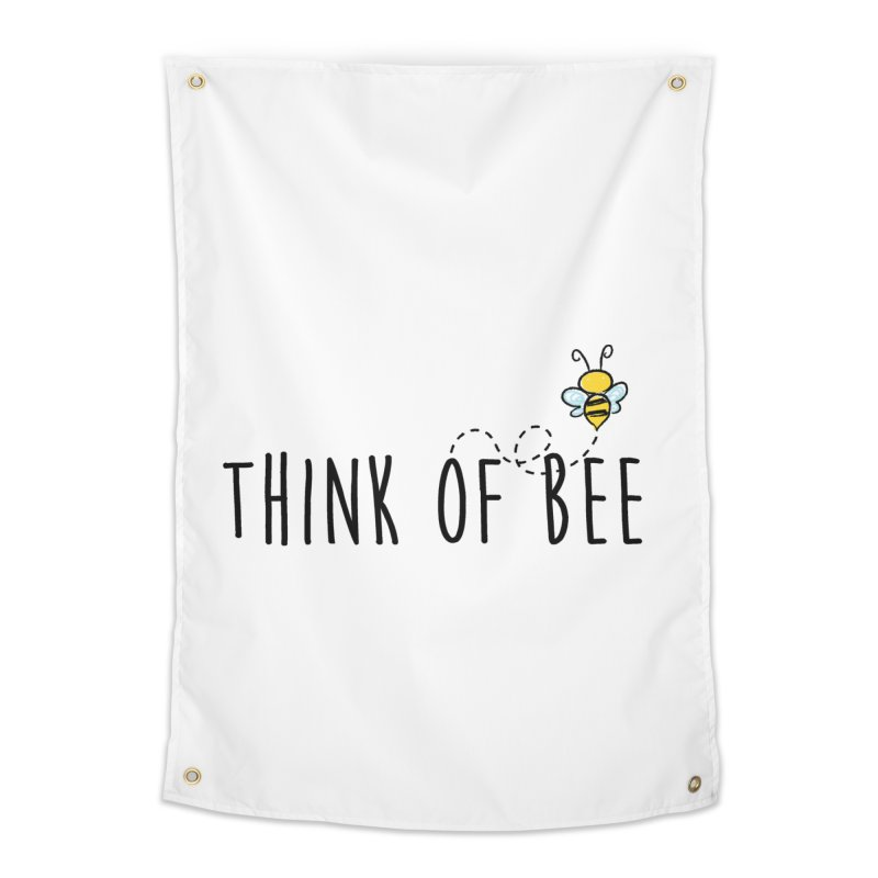 Think of Bee *Black* Home Tapestry by uppercaseCHASE1
