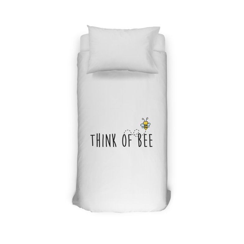 Think of Bee *Black* Home Duvet by uppercaseCHASE1