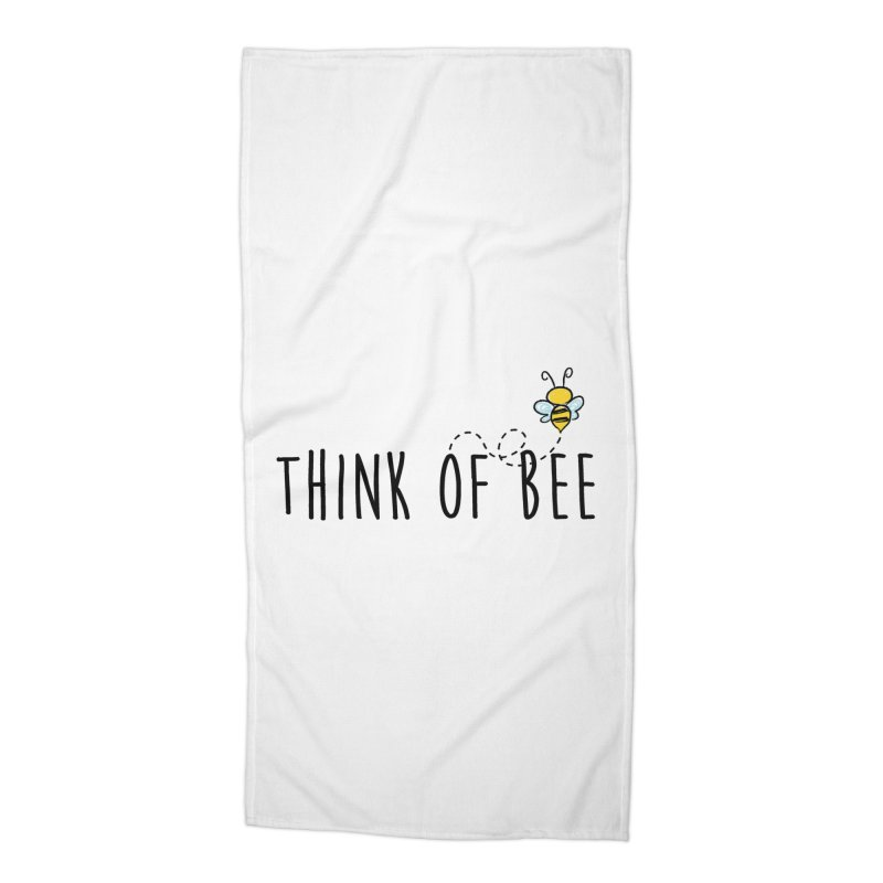 Think of Bee *Black* Accessories Beach Towel by uppercaseCHASE1