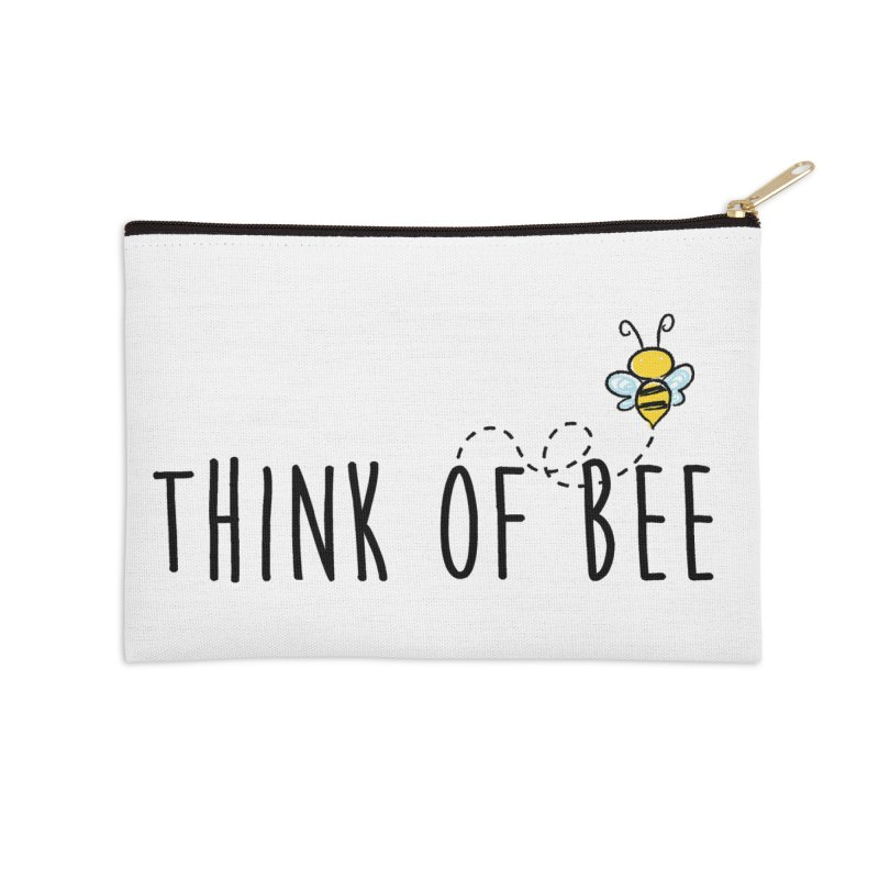 Think of Bee *Black* Accessories Zip Pouch by uppercaseCHASE1