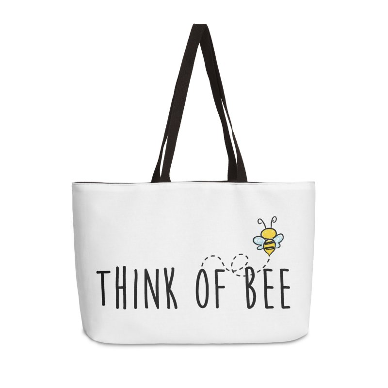 Think of Bee *Black* Accessories Weekender Bag Bag by uppercaseCHASE1
