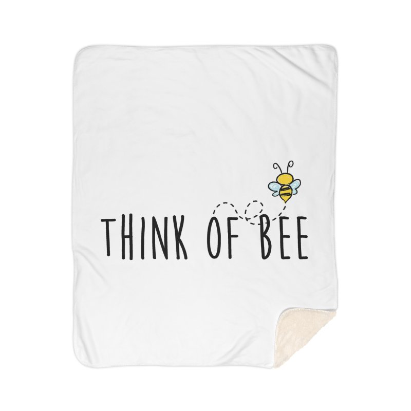 Think of Bee *Black* Home Sherpa Blanket Blanket by uppercaseCHASE1