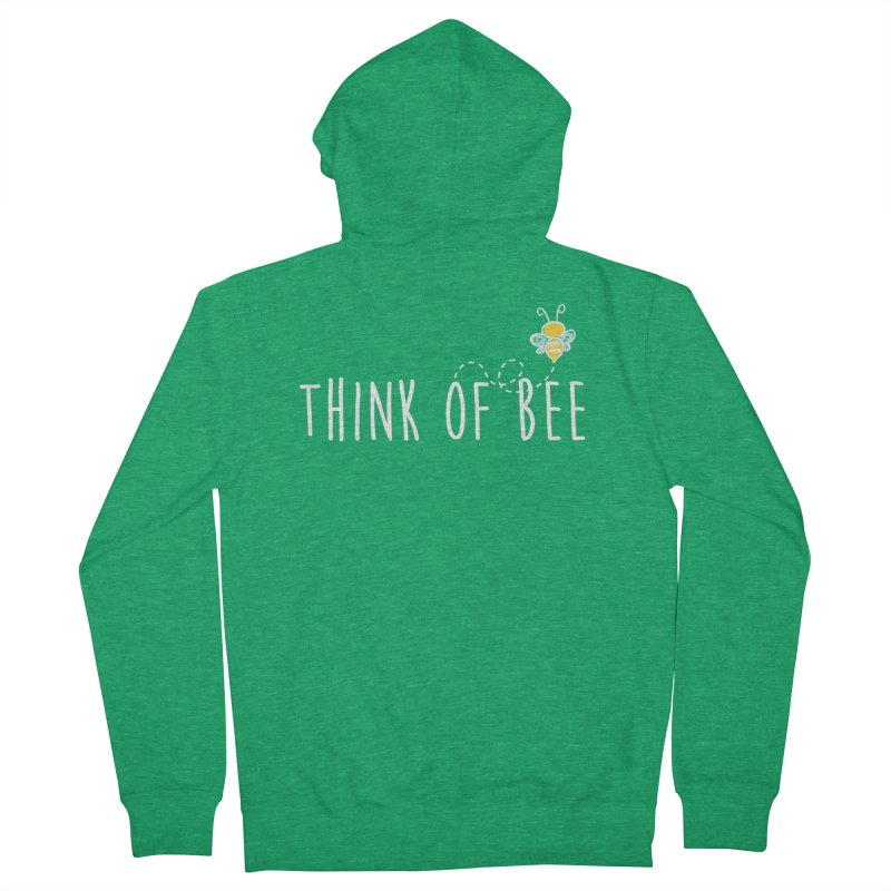 Think of Bee *White Font* Men's Zip-Up Hoody by uppercaseCHASE1