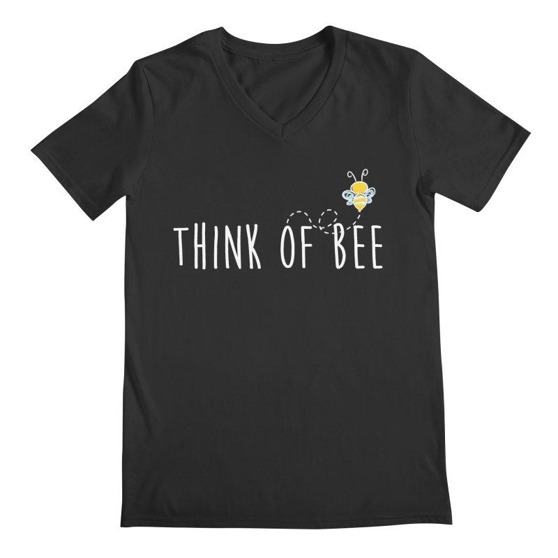Think of Bee *White Font* Men's Regular V-Neck by uppercaseCHASE1