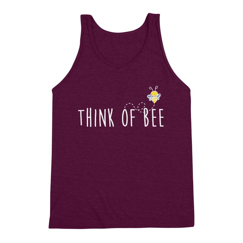 Think of Bee *White Font* Men's Triblend Tank by uppercaseCHASE1