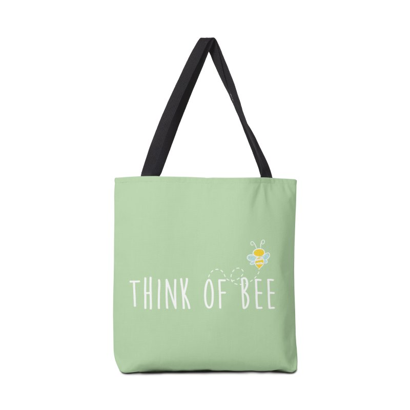 Think of Bee *White Font* Accessories Bag by uppercaseCHASE1