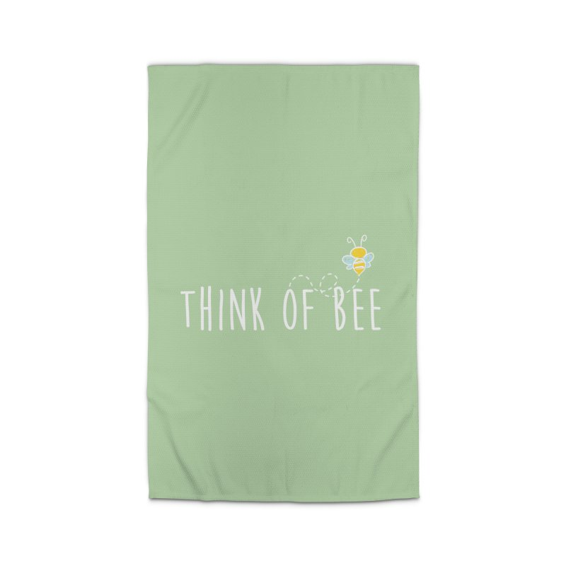 Think of Bee *White Font* Home Rug by uppercaseCHASE1