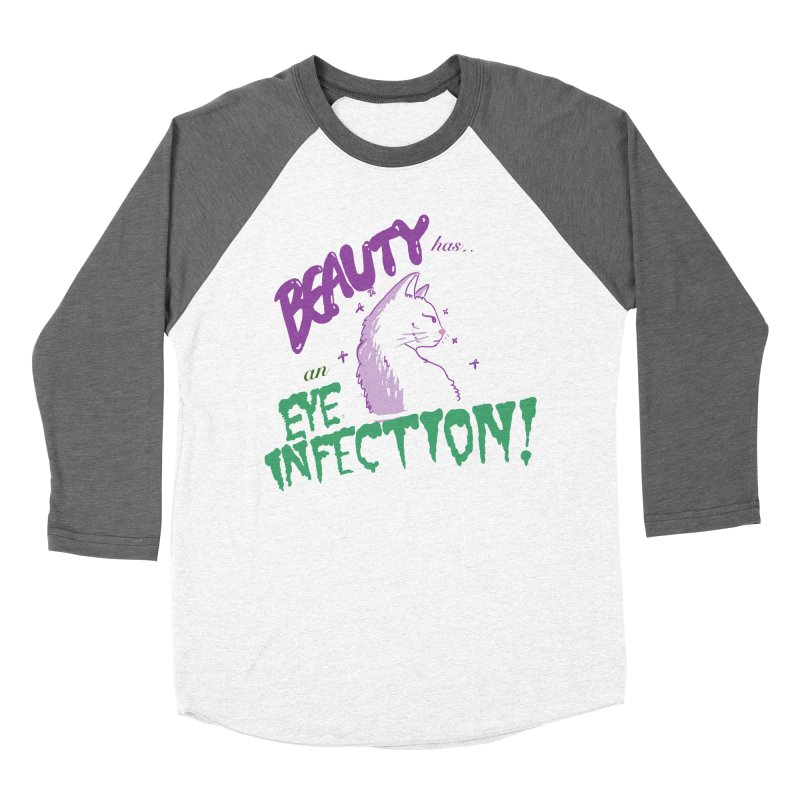 Beauty has an Eye Infection Women's Longsleeve T-Shirt by uppercaseCHASE1