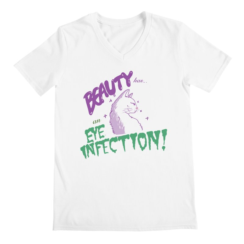 Beauty has an Eye Infection Men's V-Neck by uppercaseCHASE1
