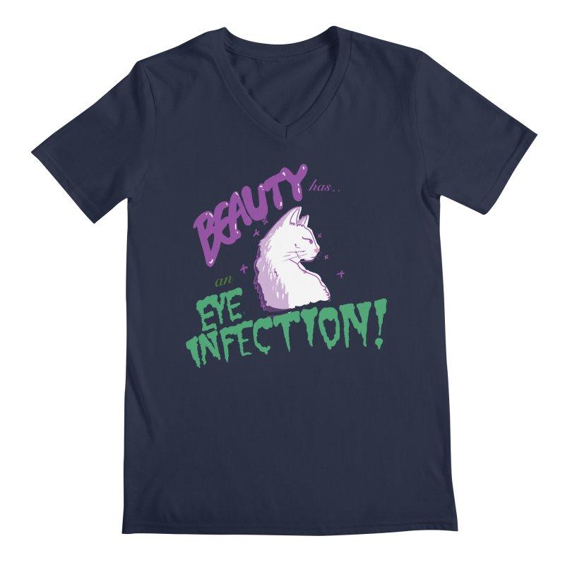 Beauty has an Eye Infection Men's Regular V-Neck by uppercaseCHASE1