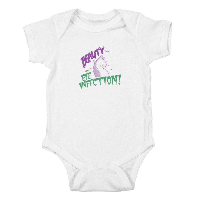 Beauty has an Eye Infection Kids Baby Bodysuit by uppercaseCHASE1