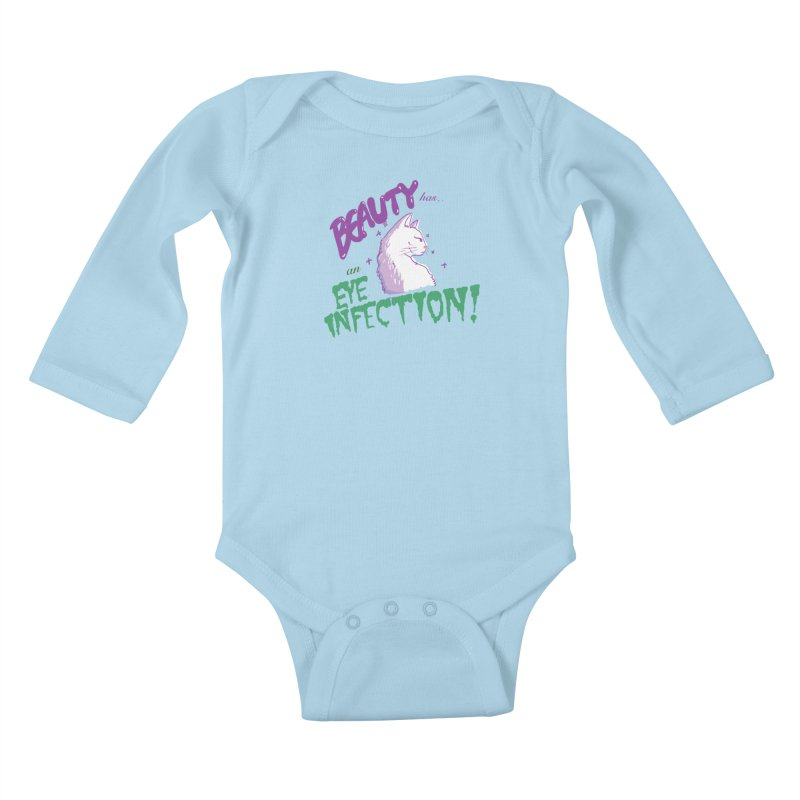 Beauty has an Eye Infection Kids Baby Longsleeve Bodysuit by uppercaseCHASE1