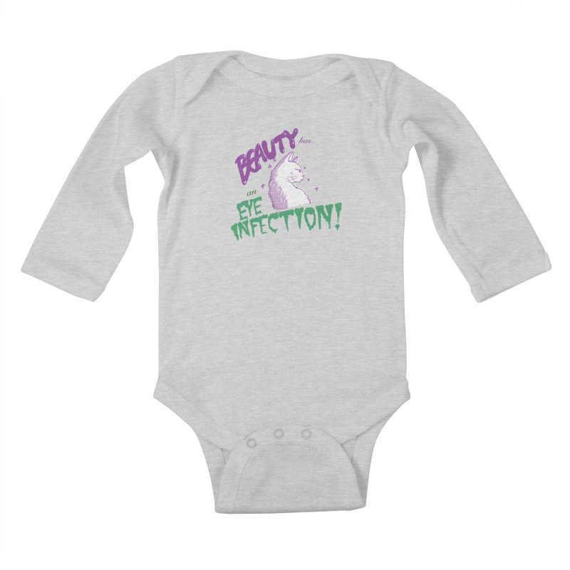 Beauty has an Eye Infection Kids Baby Longsleeve Bodysuit by uppercaseCHASE1