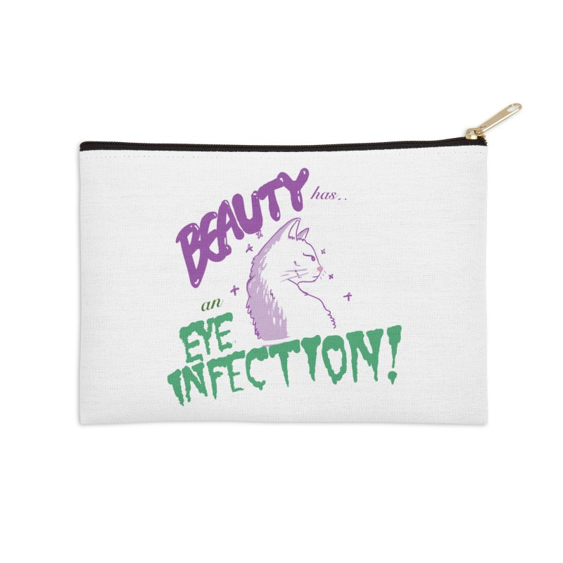 Beauty has an Eye Infection Accessories Zip Pouch by uppercaseCHASE1
