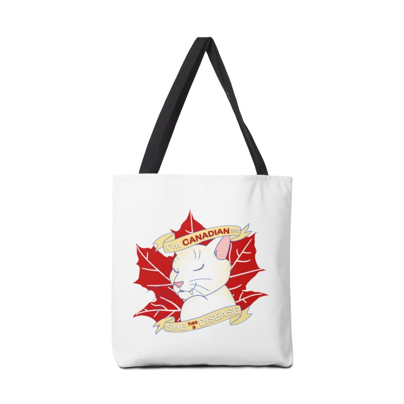 I'm Canadian, and she has a Disease  Accessories Tote Bag Bag by uppercaseCHASE1