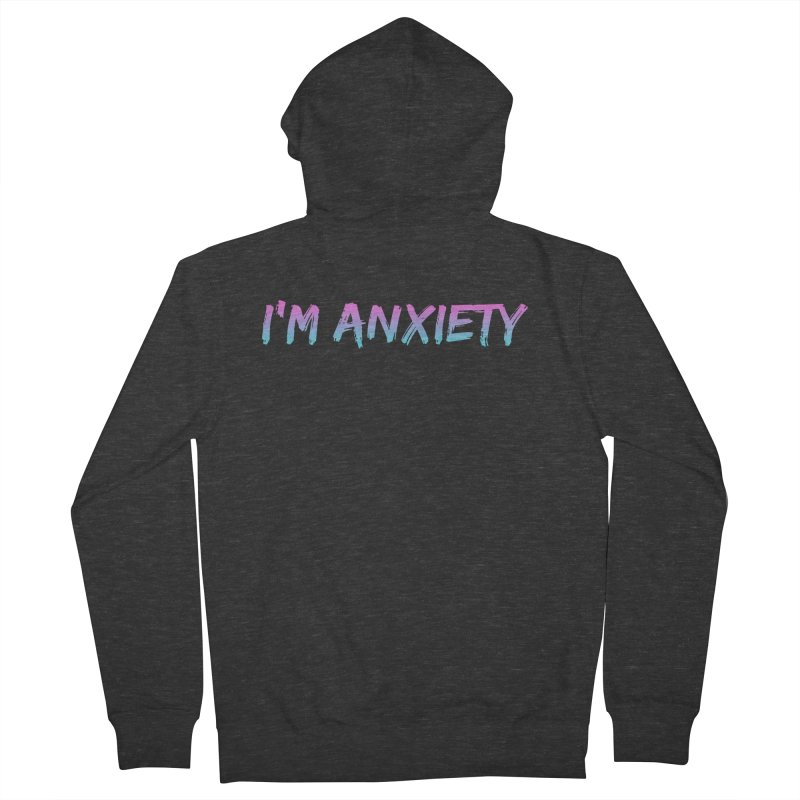 I'M ANXIETY (TRAN) Women's French Terry Zip-Up Hoody by uppercaseCHASE1