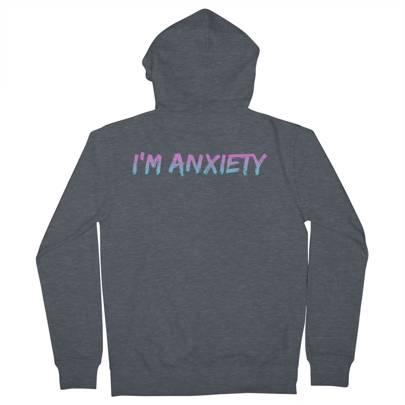 I'M ANXIETY (TRAN) Men's Zip-Up Hoody by uppercaseCHASE1