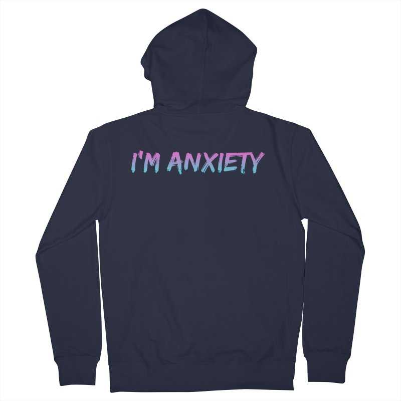 I'M ANXIETY (TRAN) Men's French Terry Zip-Up Hoody by uppercaseCHASE1