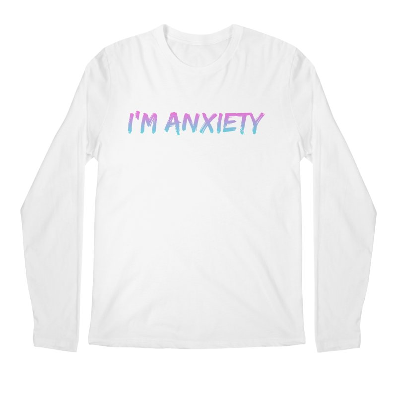 I'M ANXIETY (TRAN) Men's Regular Longsleeve T-Shirt by uppercaseCHASE1