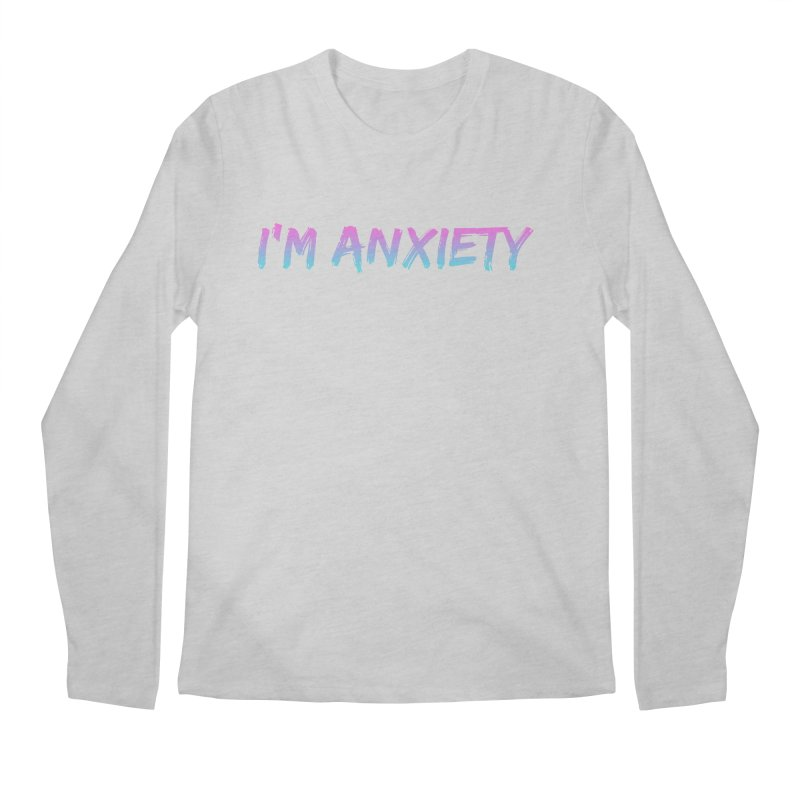 I'M ANXIETY (TRAN) Men's Longsleeve T-Shirt by uppercaseCHASE1