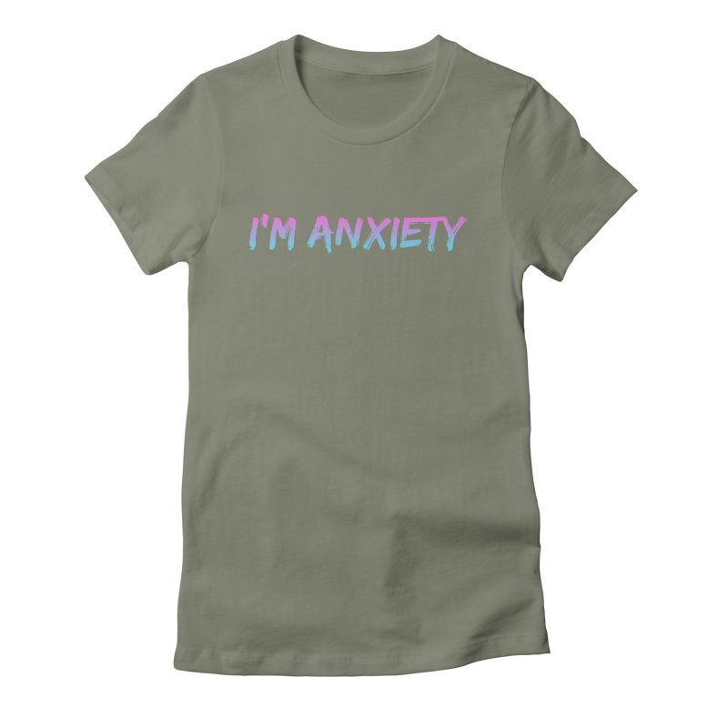 I'M ANXIETY (TRAN) Women's T-Shirt by uppercaseCHASE1