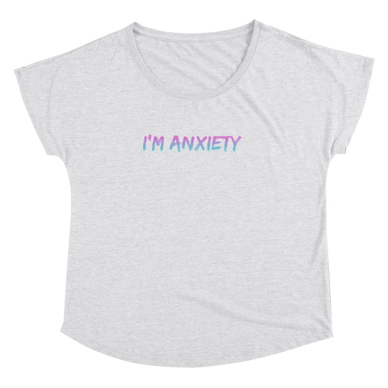 I'M ANXIETY (TRAN) Women's Scoop Neck by uppercaseCHASE1