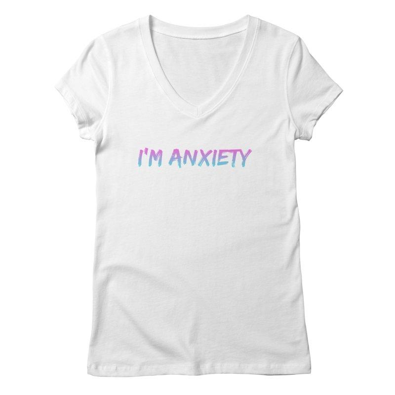 I'M ANXIETY (TRAN) Women's Regular V-Neck by uppercaseCHASE1